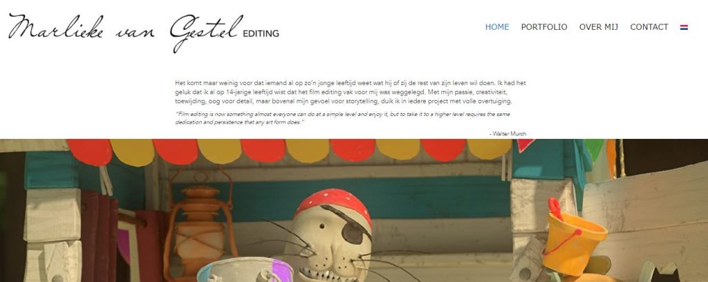 Portfolio: Rainbow Solutions Webdesign: bedrijfscoach Marlieke van Gestel - Filmeditor