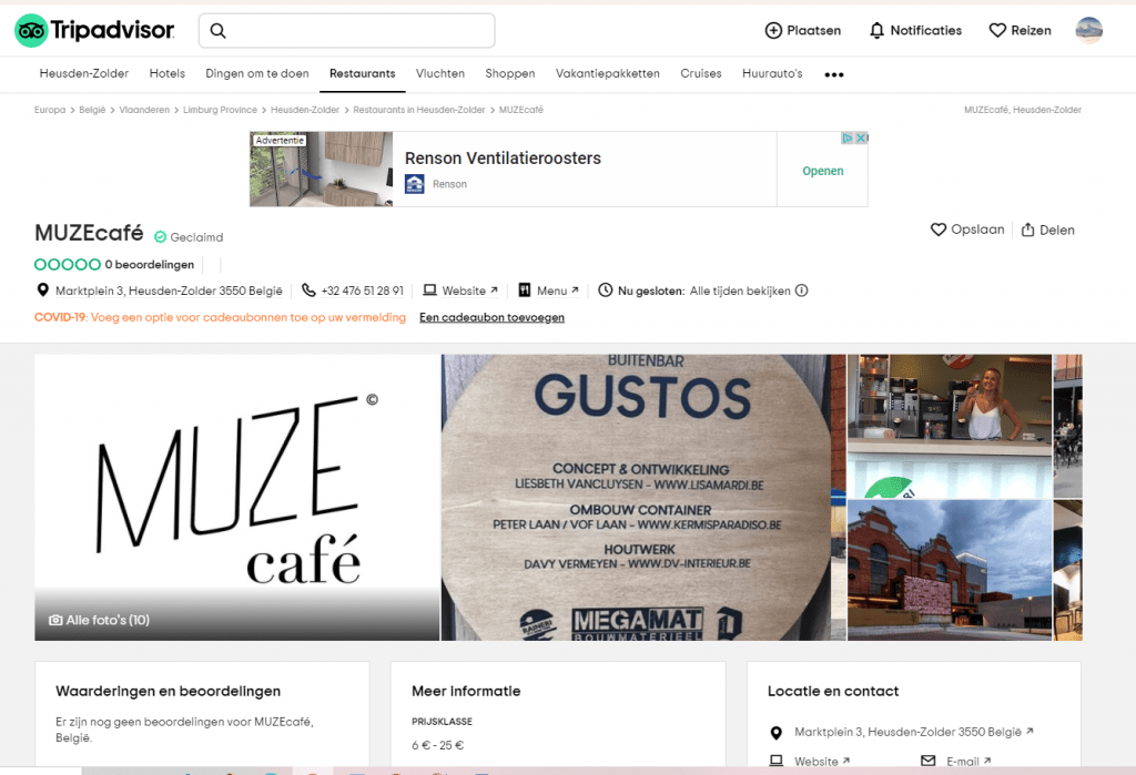Portfolio: Rainbow Solutions Webdesign: Tripadvisor - Gustos