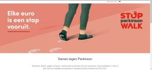 Portfolio: Rainbow Solutions Webdesign: Stop Parkinson vzw shoppagina