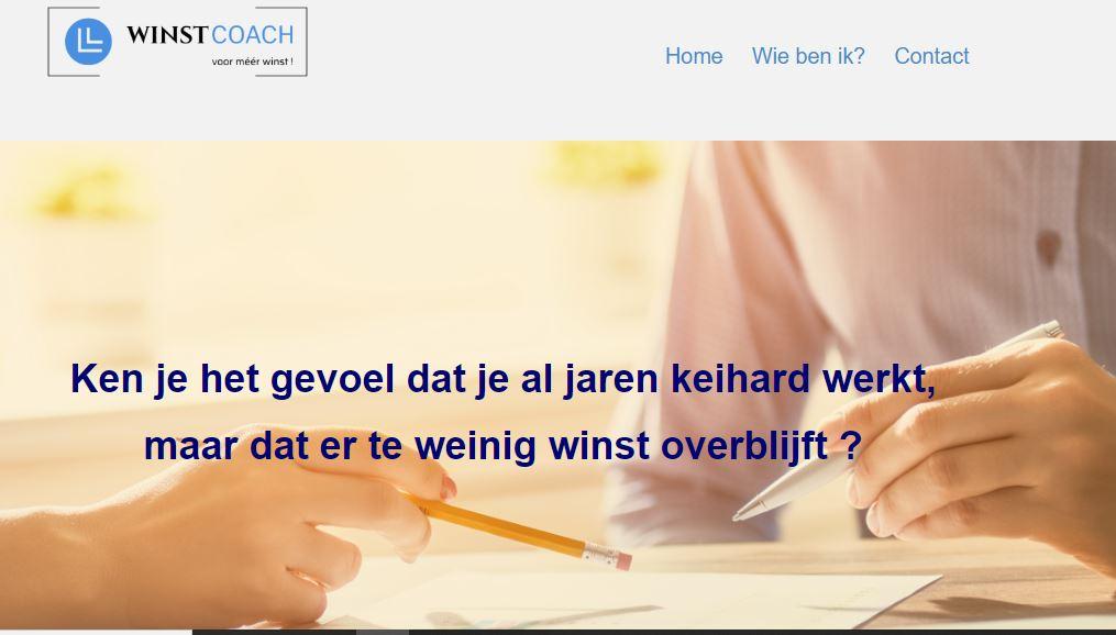Portfolio: Rainbow Solutions Webdesign: bedrijfscoach winstcoach