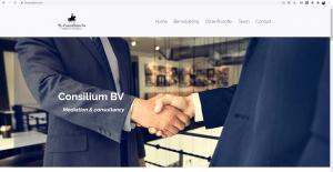 Portfolio: tl-consilium.com. Een one page website in WordPress voor een bemiddelingsbureau