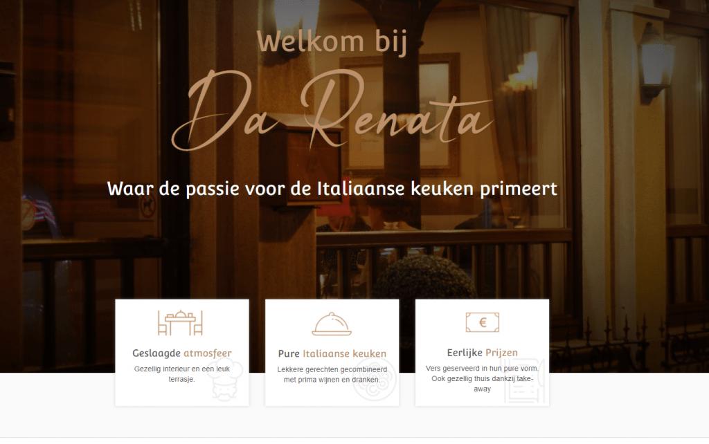 Da Renata, Italiaan restaurant, portfolio
